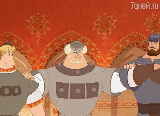 Кадр мультфильма  «Три богатыря и Шамаханская царица»