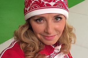 Татьяна Навка первой понесет Олимпийский огонь в Сочи