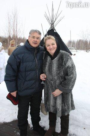 Павел Чухрай с женой Марией