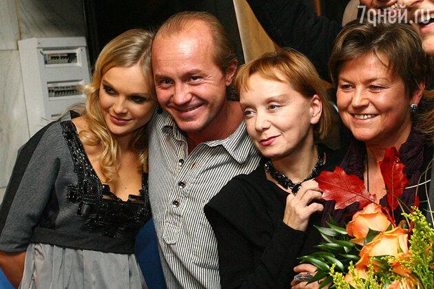 Андрей Панин и Евдокия Германова после спектакля