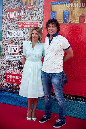Дмитрий Люсек-Сорокин с женой Натальей