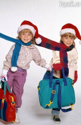 Сестрички-близняшки Олсен в детстве