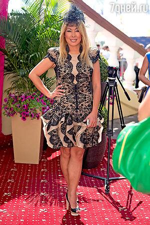 Анита Цой  на скачках «Гран-при Радио Monte Carlo».  2013 год