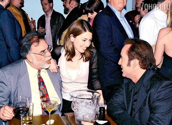 Со знаменитым дядей Фрэнсисом и кузиной Софией Коппола. 2003 г.