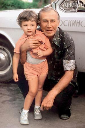 Иван Лапиков с внуком Лешей
