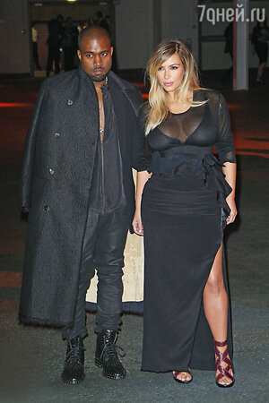 Канье Уэст (Kanye West)  и Ким Кардашьян  (Kim Kardashian)