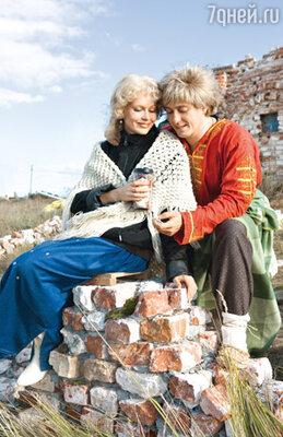 С женой Ириной на съемках фильма «Самая реальная сказка»