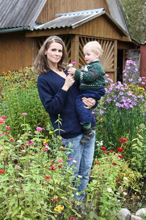 Наталия Лесниковская с сыном