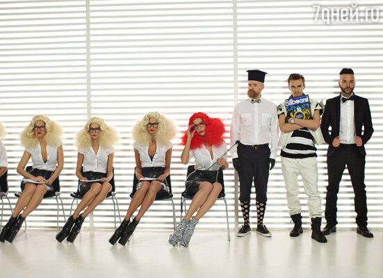 Съемки клипа на песню «Everybody dance»
