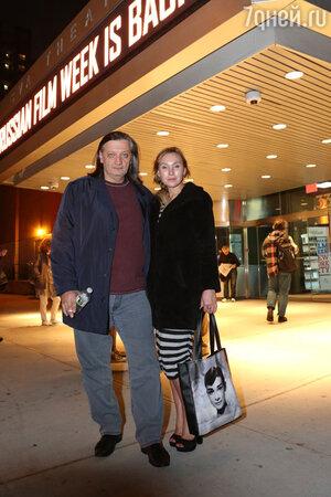 Дарья Екамасова и Александр Велединский на  Неделе российского кино в Нью-Йорке