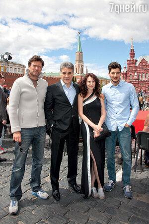 Ольга Погодина с Андреем Чернышовым, Алексеем Пимановым и Андреа Прети
