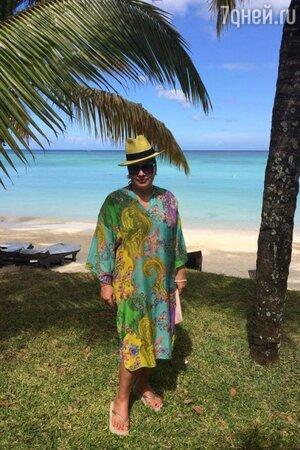 Ева Польна на острове Маврикий
