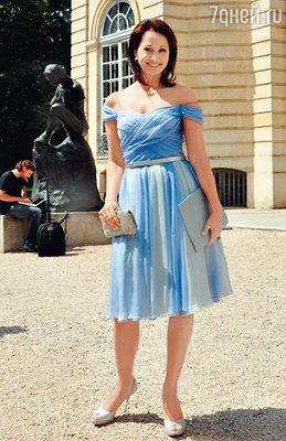 Ольга Кабо после дефиле «Сhristian Dior»