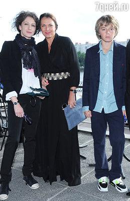 Ксения Раппопорт и Татьяна Лютаева с сыном