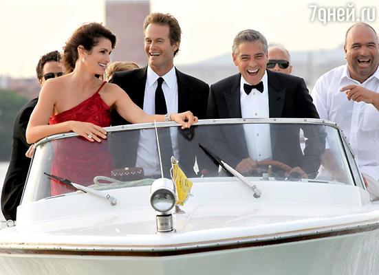 Джордж Клуни пригласил на фестиваль Синди Кроуфорд и ее мужа Рэнди Гербера