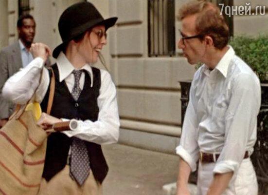 С Вуди Алленом на съемках «Энни Холл». 1977 г.
