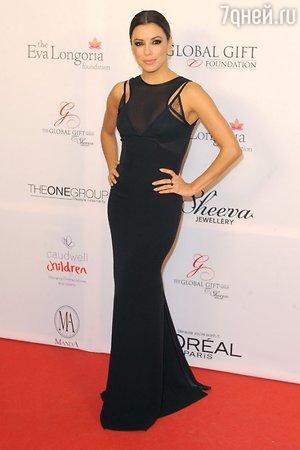 Ева Лонгория в платье от Виктории Бекхэм на Global Gift Gala 2013