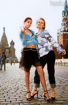 С сестрой Ангелиной на Красной площади