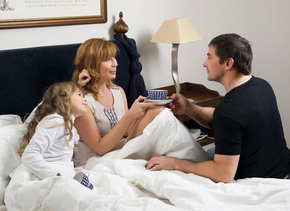 С Сергеем Великановым и дочерью Сашей