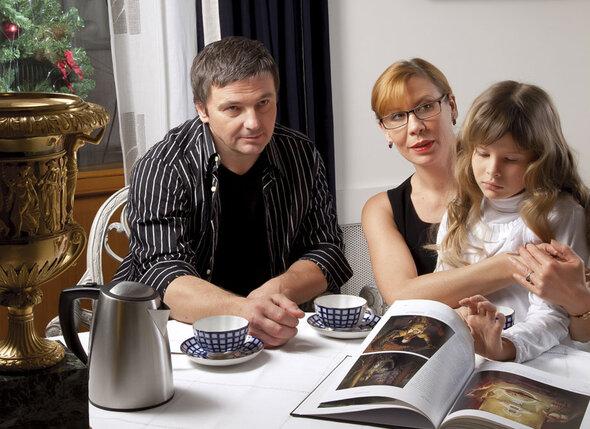 С Сергеем и дочерью
