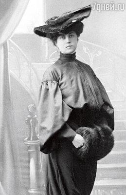 Коллонтай всегда была завзятой модницей. 1905 г.