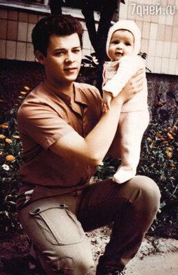 С дочкой Марианночкой. Полтава, 1984 г.