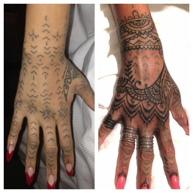 Во время поездки в Новую Зеландию, Рианна решилась сделать себе татуировку по эскизам одного из местных племен