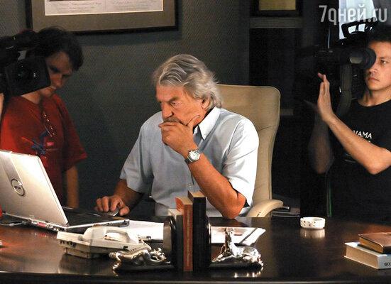 Рабочий момент съемок сериала «Кулагин и партнеры»