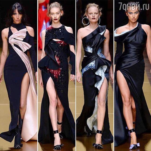 На показе Atelier Versace Haute Couture
