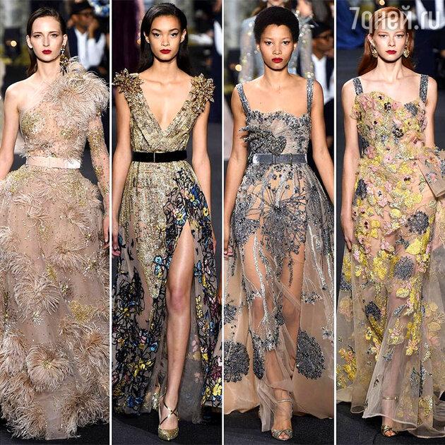 На показе Elie Saab Haute Couture