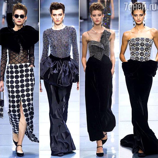 На показе Armani Prive Haute Couture
