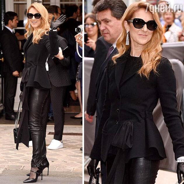 Селин Дион на показе Christan Dior Haute Couture в Париже