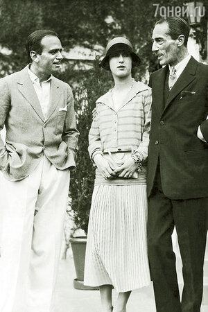 Дуглас Фейербэнкс с герцогом и герцогиней Альба, США, 1930 г.