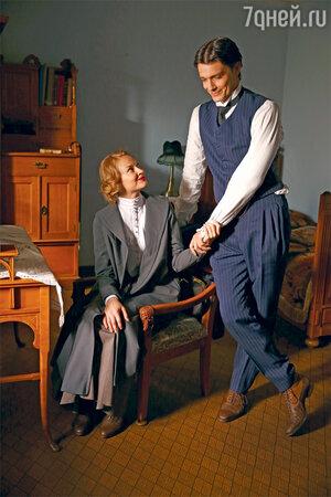 Максим Матвеев и Светлана Ходченкова на съемках картины «Мата Хари»