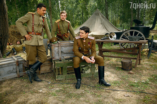Максим Матвеев на съемках фильма «Мата Хари»