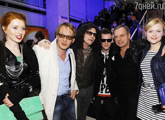 Михаил Горевой, Сергей Галанин (в центре), Александр Мохов и Дарья Калмыкова