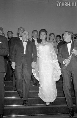 Карло Понти и Софи Лорен, 1966 г.