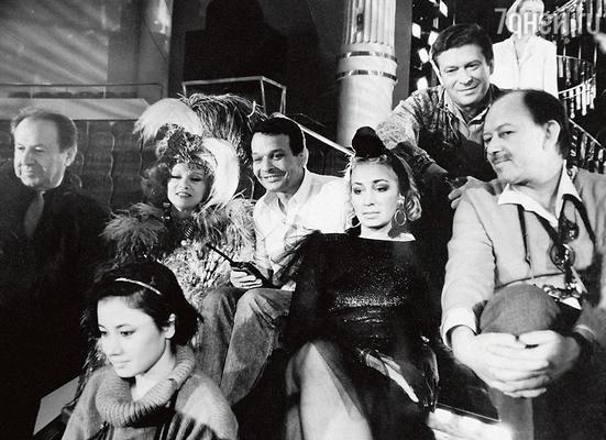 С Людмилой Гурченко и Татьяной Васильевой на съемках фильма «Моя морячка». 1990 г.