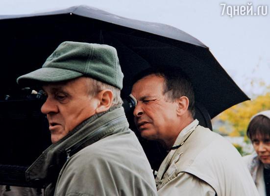 С Владимиром Меньшовым на съемках фильма «Зависть богов». 2000 г.