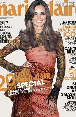 Обложка августовского номера «Marie Claire South Africa» (2012)