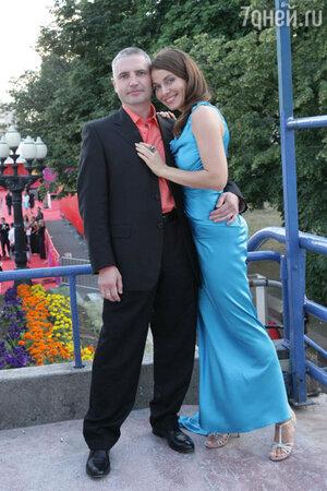 Екатерина Гусева  с мужем Владимиром Абашкиным