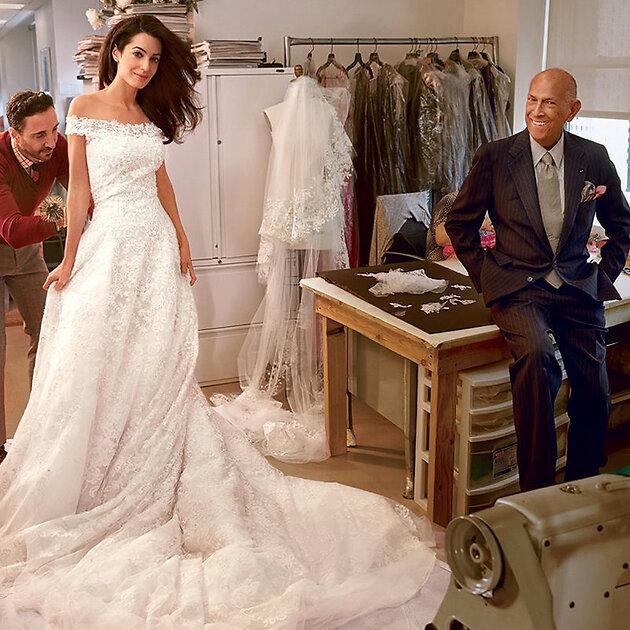 Свадебное платье  Амаль Аламуддин , Oscar De La Renta