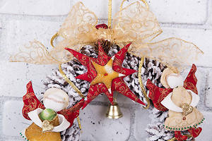 Рождественский венок «Снежная сказка»