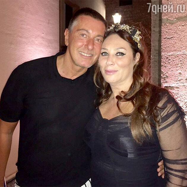 Алла Вербер со Стефано Габбана на шоу Alta Moda