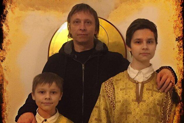 Иван Охлобыстин с сыновьями Василием и Саввой