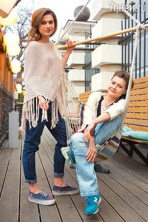 Мария Голубкина с дочкой