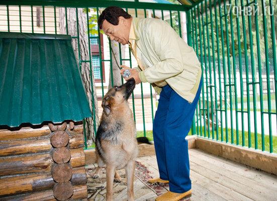 Каждое утро Иосиф Кобзон приходит к своей немецкой овчарке Рексу с угощением