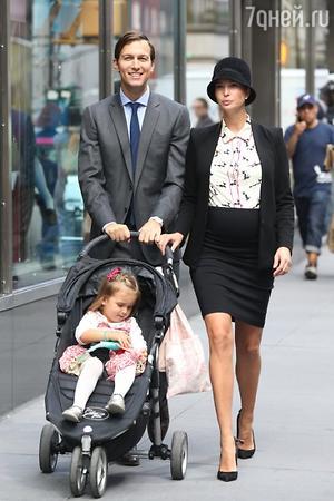 Иванка Трамп и Джаред Кушнер с дочкой Арабеллой