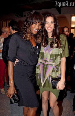 Преданные  поклонницы Дома «Givenchy» Наоми Кэмпбелл и Лив Тайлер
