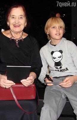 Сын Водяновой Лукас с прабабушкой Людмилой Гавриловной